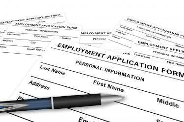Image of an Employment Application, Symbolizing Problems that Can Arise in an Employment Relationship that Require the Assistance of Experienced Employment Lawyers in Kentucky (KY), Pennsylvania (PA), or West Virginia (WV)