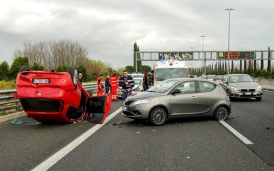 Image of a Highway Car Crash Accident Involving Several Drivers, Representing a Complex Scenario Illustrating the Application of the WV Comparative Fault Law.
